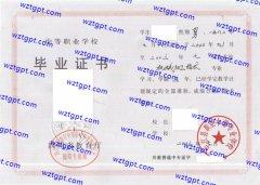 中江县职业中等专业学校中专毕业证样本